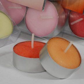 Velas perfumadas aroma fresa ( 6 uds)