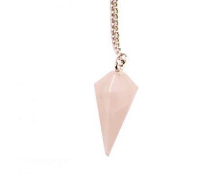 Péndulo punta cuarzo rosa
