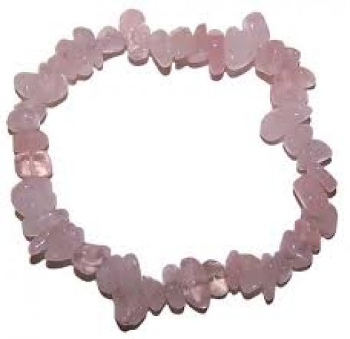 Pulsera chip cuarzo rosa