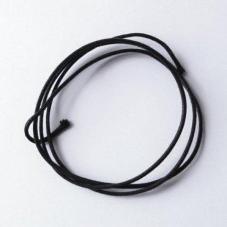 Trozo cordón negro