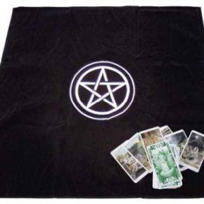Tapete tarot pentagrama