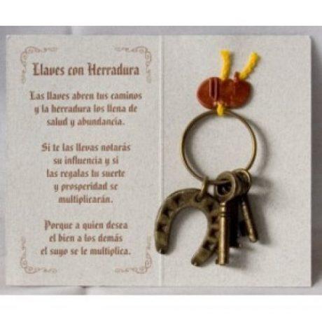 Amuleto Herradura y llaves