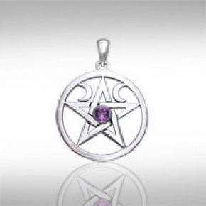Colgante pentagrama wicca
