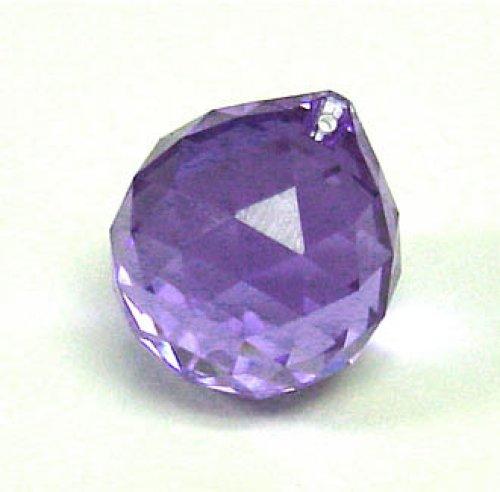Esfera cristal facetado violeta 30mm