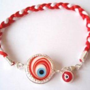 Pulsera ojo turco cinta roja