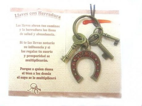 Amuleto llaves y herradura grande