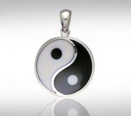 Colgante yin yan plata