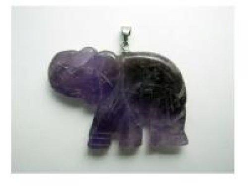 Colgante elefante amatista