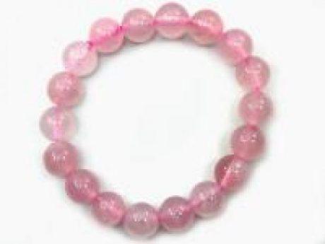 Pulsera bola cuarzo rosa