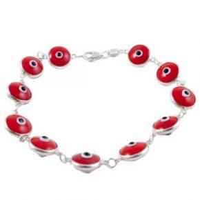 Pulsera ojo turco roja
