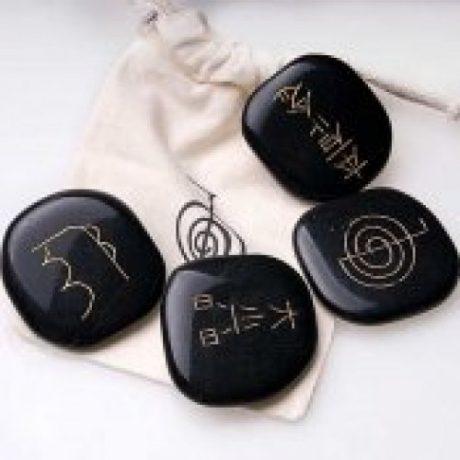 Set piedras reiki onix negro