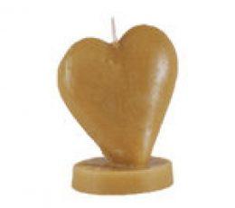 Vela corazón miel