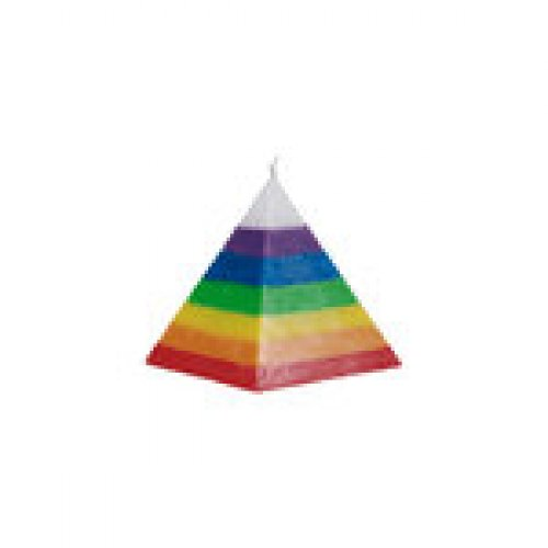 Vela piramide 7 colores