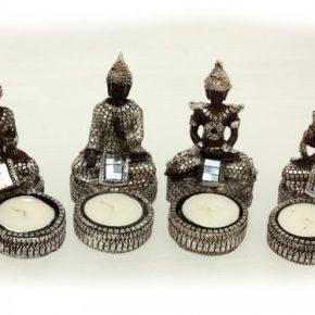 Buda portavelas amitabha