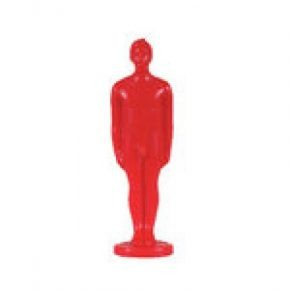 Vela figura hombre rojo