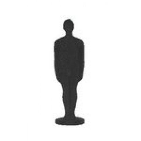 Vela figura hombre negra