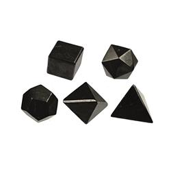 "alt="" poliedros shungit"""
