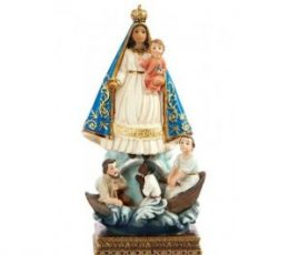 Virgen caridad del cobre 15cm