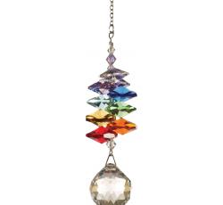 Cascada cristal arcoiris