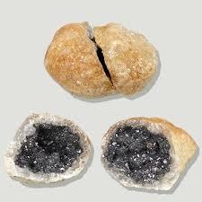 Geoda de cuarzo con galena