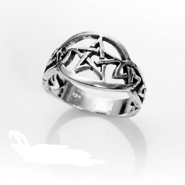 Anillo pentagrama plata