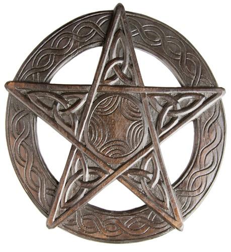 Pentagrama madera