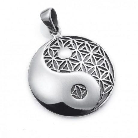 Colgante yin yan flor de la vida