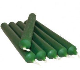 Vela color verde