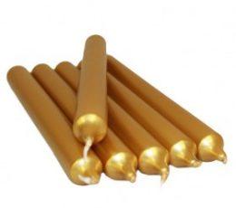 Vela color dorado