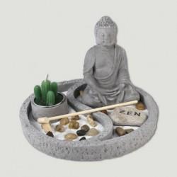 Jardín zen buda