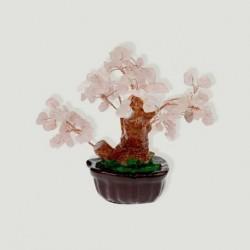 Bonsai cuarzo rosa