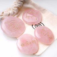 Set piedras reiki cuarzo rosa