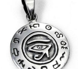 Colgante ojo de Horus circular