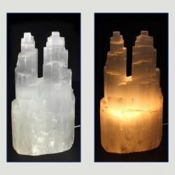 lámpara selenita doble