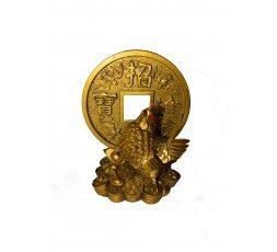 Gallo con moneda