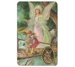 Estampa con medalla ángel de la guarda