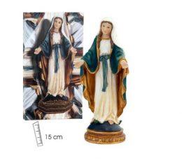 Virgen milagrosa 15 cm