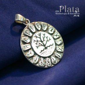 Colgante arbol vida runas