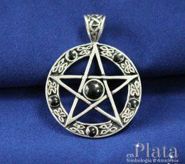 Colgante pentagrama onix