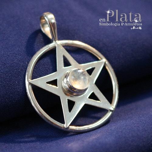 Colgante pentagrama piedra