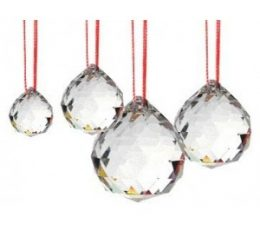 Esfera cristal facetado 30mm