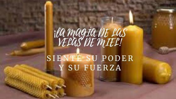 la magia de las velas de miel