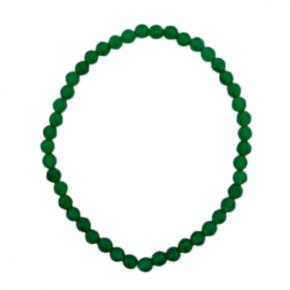 Pulsera bola ágata verde
