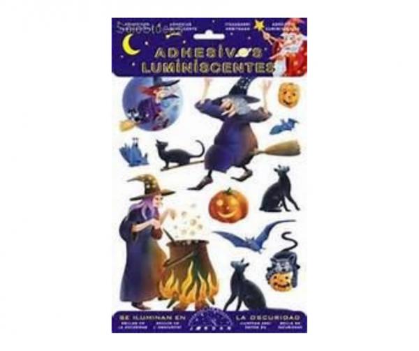 Adhesivos luminiscentes brujas