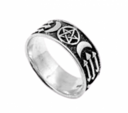 Anillo pentagrama celta