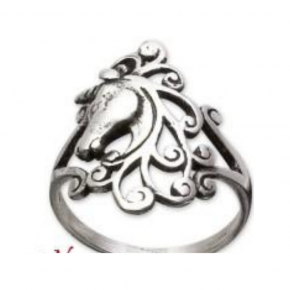 Anillo unicornio plata