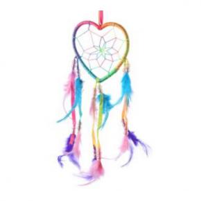 atrapasueños corazon arco iris