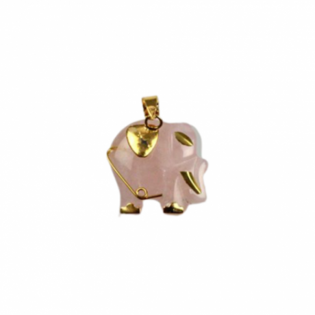 colgante-elefante-cuarzo-rosa