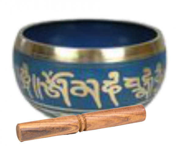 cuenco tibetano azul