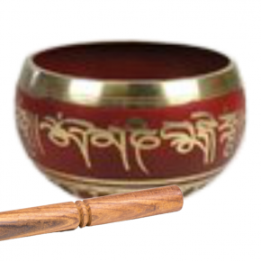 cuenco tibetano rojo